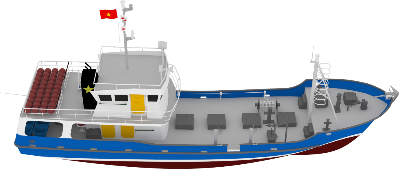 Long liner fishing vessel