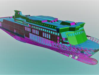 Thiết kế công nghệ phần vỏ tàu Ropax Mols-Linien