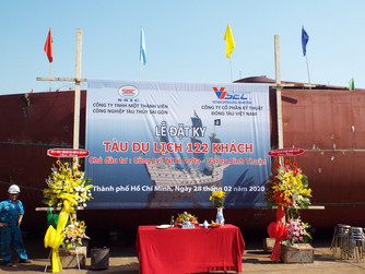 KEEL LAYING CEREMONY FOR 122 PASSENGERS SHIP OF NOVALAND GROUP