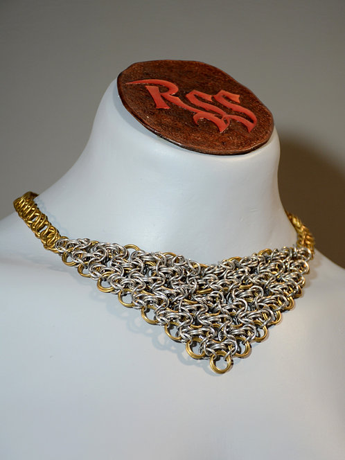 Brass & Aluminum Chainmail Necklace Necklace accessory jewelry