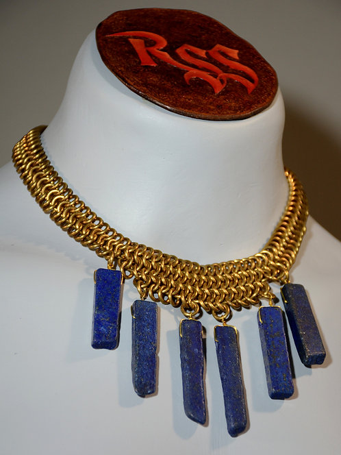 Bronze Chainmail & Lapis Lazuli by Red Stick Studio