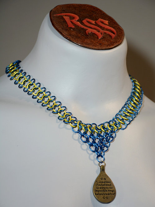 6 Impossible Things Before Breakfast  Chainmail Necklace accessory jewelry