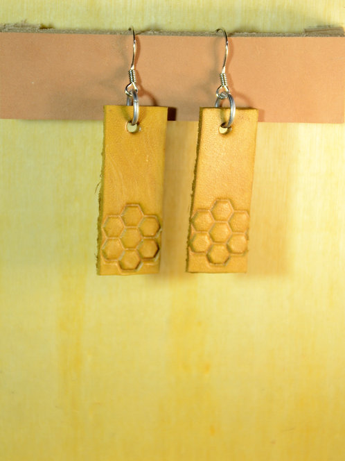 Stamped and Dyed Leather Earring Designs jewelry accessory