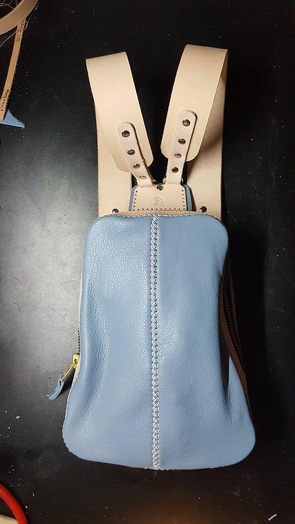 Leather Backpack, Engineer Class Sling Bag / Crossbody Bag