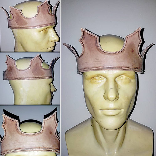 Leather Crown with Tooling: Pattern by Tony Bernier Crafted by Red Stick Studio