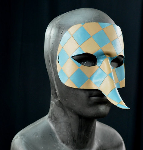 Oval with Long Nose Leather Masquerade / Costume Mask