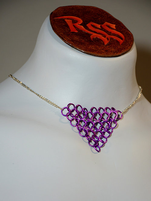 Chain with Chainmail Triangle: Purple by Red Stick Studio