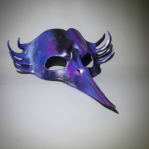Galaxy Magpie Leather Masquerade / Costume Mask