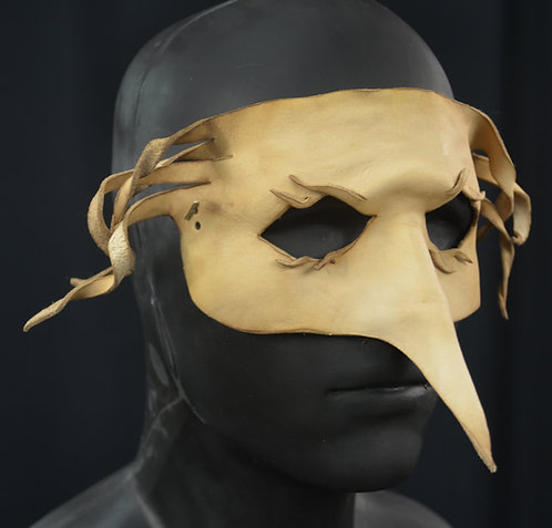 Bird with Curls Leather Masquerade / Costume Mask
