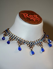 Bronze & Blue Anodized Aluminum Chainmail w/ Blue Glass by Red Stick Studio