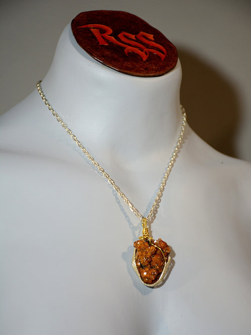 Raw Citrine Wrapped with Tarnish Resistant Gold Tone Wire