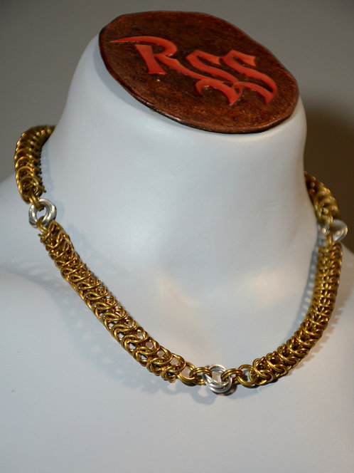 Bronze 3 in 1 JPL Chainmail w/ Shiny Aluminum Mobius Accents by Red Stick Studio
