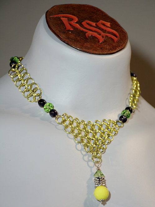 August Anodized Aluminum Chainmail Necklace accessory jewelry