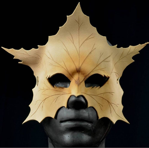 Leaf Leather Mask (4) Seasons masquerade costume accessory