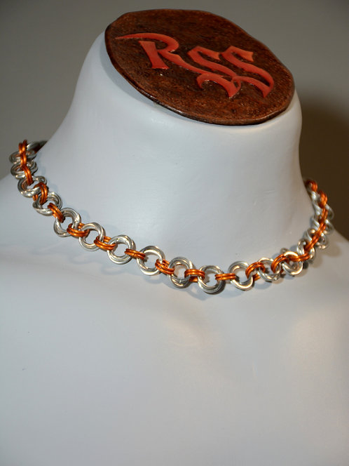 Shiny Aluminum Mobius Necklace w/Accent Colour Necklace accessory jewelry