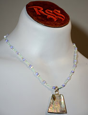 Mother of Pearl & Pale Green w/ Abolone Necklace accessory jewelry