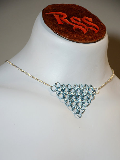 Chain with Chainmail Triangle: Pale Blue by Red Stick Studio