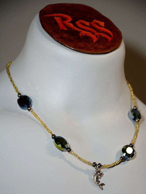Gold & Black w/ Hematite & Koi Necklace accessory jewelry