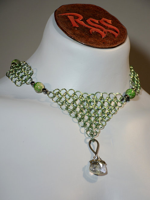 April Anodized Aluminum Chainmail Necklace accessory jewelry