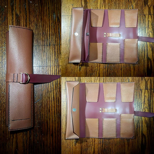 Italian Leather Artist Tool Wrap