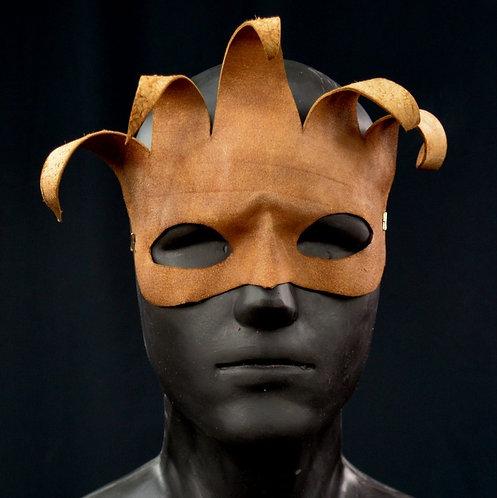 Medium Jester Leather Masquerade / Costume Mask