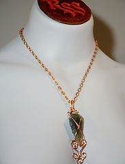 NY Arrowhead Focal Point, Raw Copper Wire Wrapped Pendant