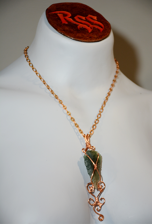NY Arrowhead Focal Point, Raw Copper Wire by Red Stick Studio