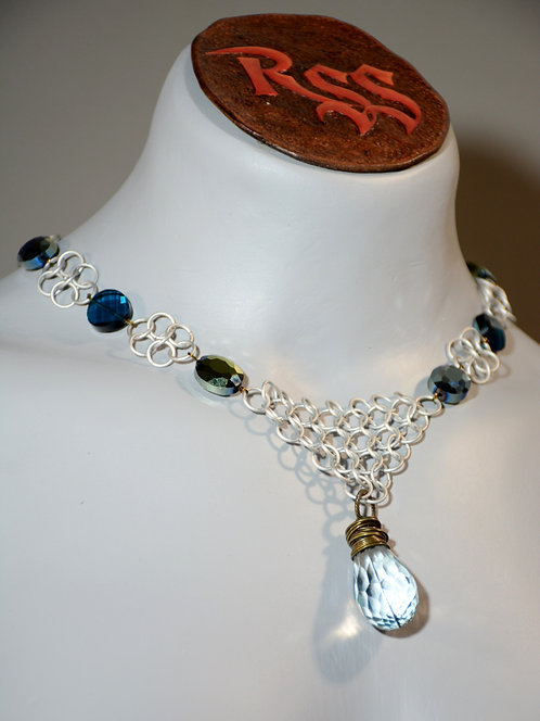 December Anodized Aluminum Chainmail Necklace accessory jewelry