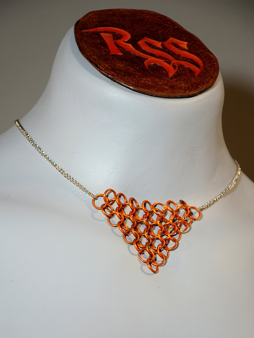Chain with Chainmail Triangle: Orange by Red Stick Studio