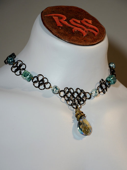 June Anodized Aluminum Chainmail Necklace by Red Stick Studio