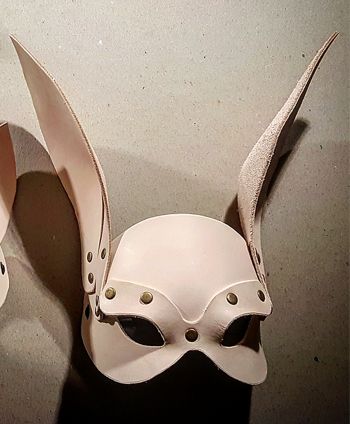 Leather and Rivet Rabbit Mask cosplay costume accessory