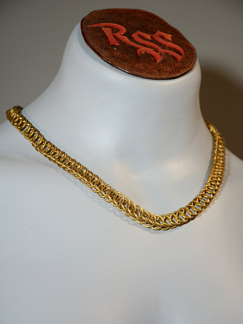 Brass 3 in 1 JPL Chainmail Necklace accessory jewelry