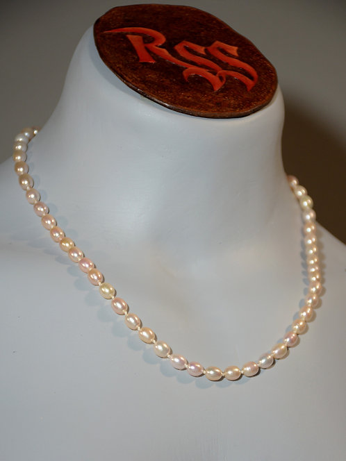 Pale Pink Pearls hand knotted on Silk Thread jewelry accessory
