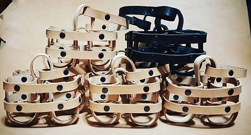 Leather beer carrier, Bottle holder, Six pack tote Can holder beer caddy