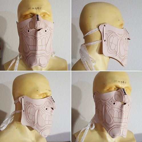 Oni Mask, Veg Tan Leather customizeable cosplay costume accessory