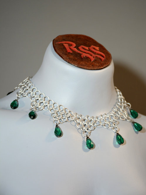 Frost Ice Anodized Aluminum Chainmail & Teal by Red Stick Studio