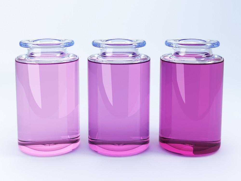3 glass jars