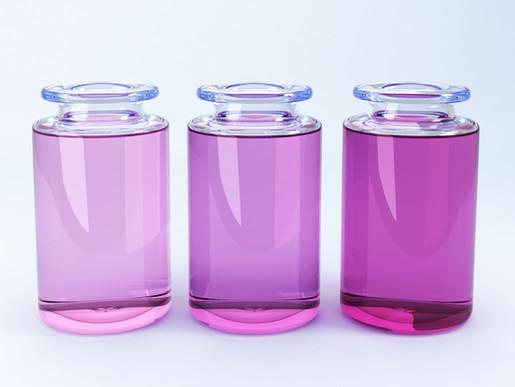 3 Glass Bottles