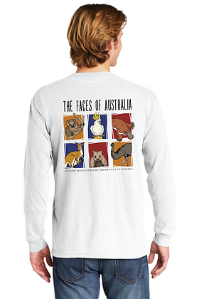 The Faces of Australia Heavy Weight Long Sleeve
