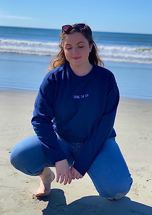 Saving The Sea Pigment Dyed Crewneck Sweatshirt