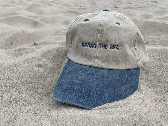 Saving the Sea Pigment Dyed Relaxed Dad Cap