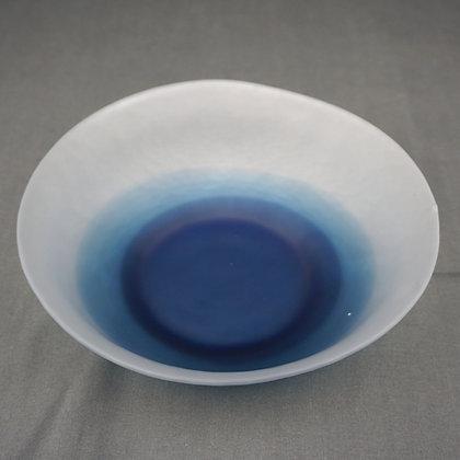 ガラス鉢(藍)