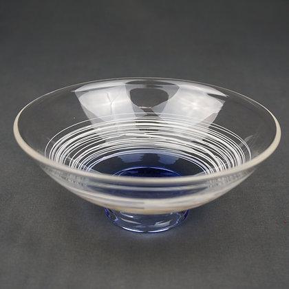 ガラス平茶碗(青)