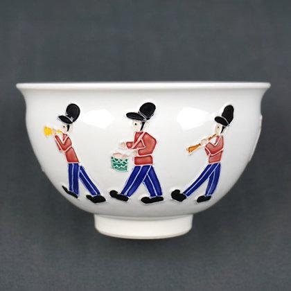 白交趾 楽隊図茶碗 南山窯