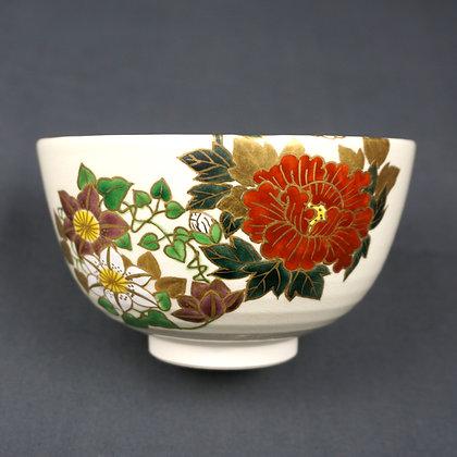 色絵 花丸絵茶碗 陶象造