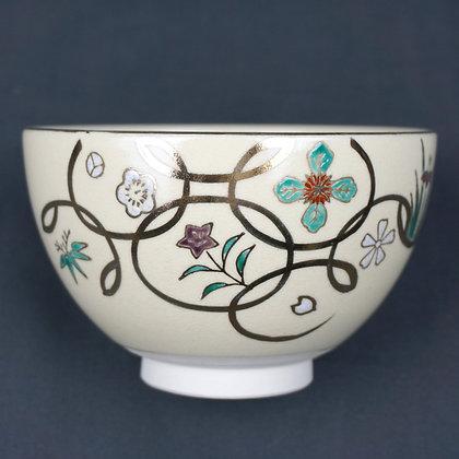 四季七宝絵茶碗