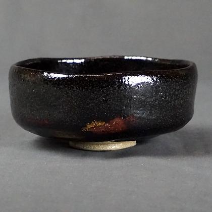 黒楽馬盥茶碗 北野焼