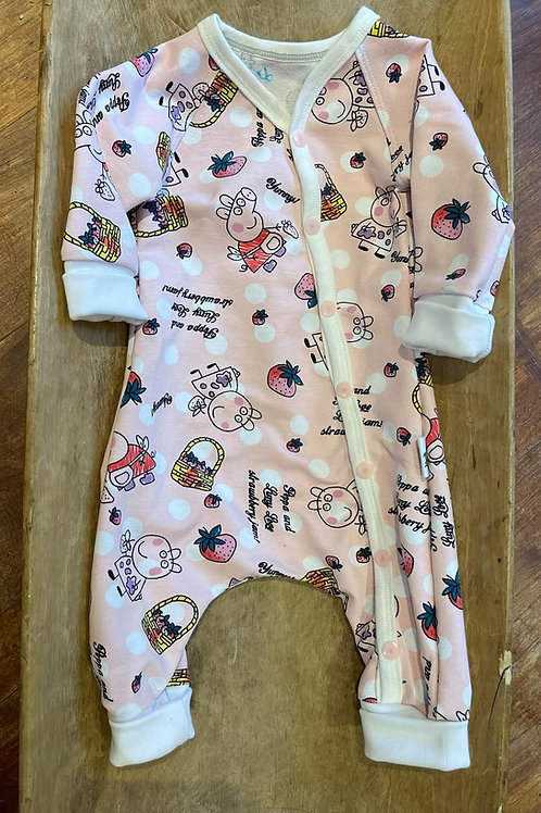 Babydress i bomull, prematur til 3mnd - Baggydress
