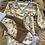 Thumbnail: Gavesett omslagsbody med giraffer og bukse i ribbjersey med detaljer