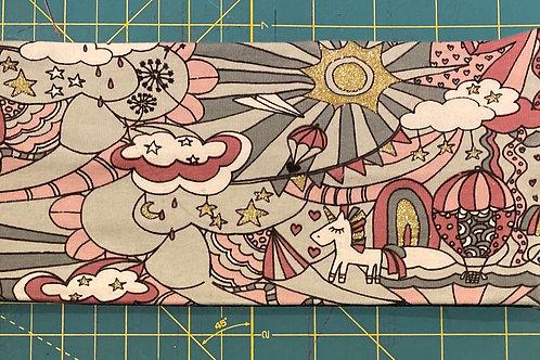 Mønstret pannebånd i jersey